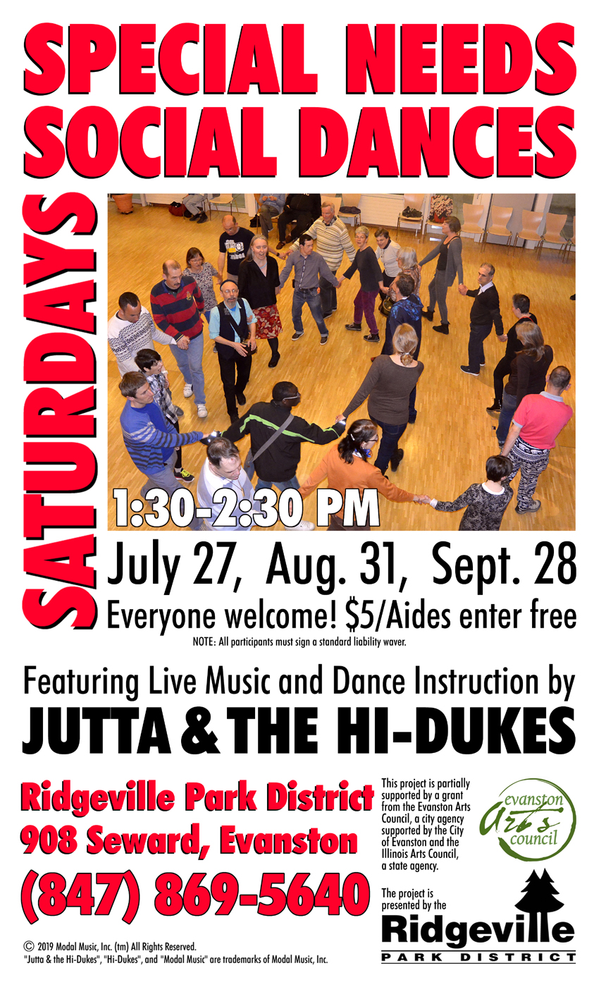 Programs for Special Needs communities by Jutta & the Hi-Dukes (tm)