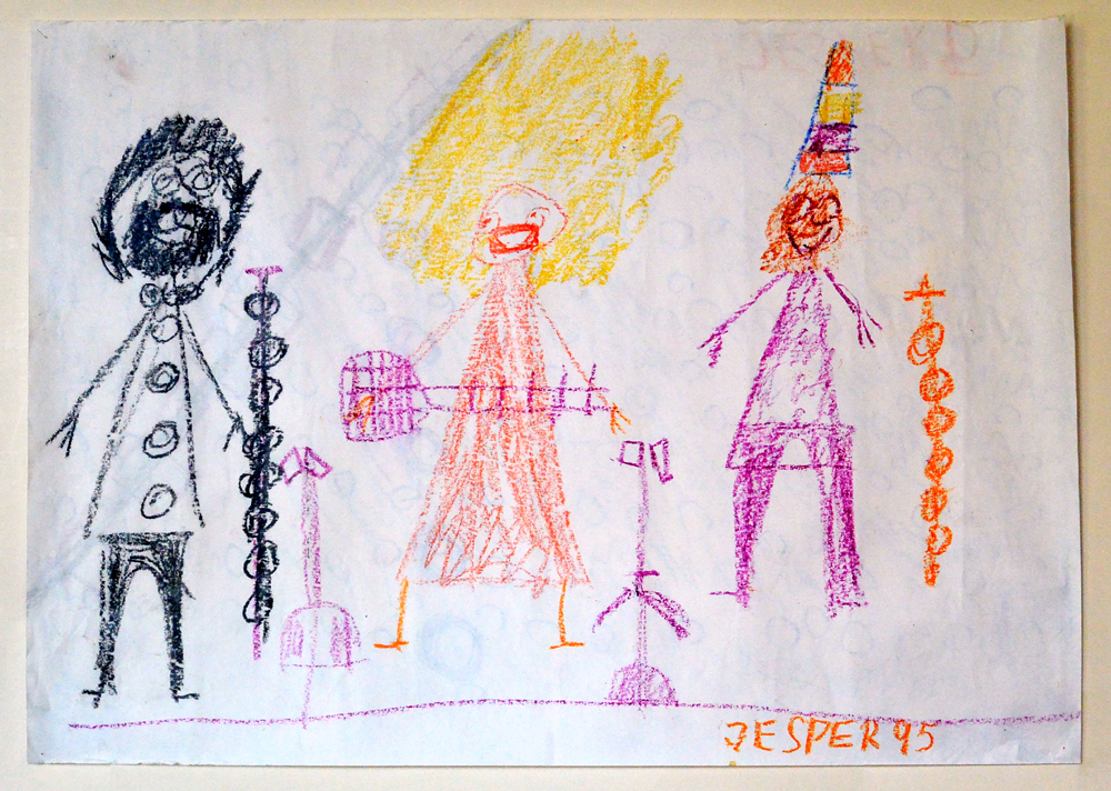 Image of Jesper's art after a Hi-Dukes program at a special needs residence in Denmark