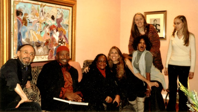 Image of the Hi-Dukes with singer Big Llou Johnson, his wife Nitrice, publicist Lynn Orman Weiss, and singer Shay Jones in Dec. 2011. © 2012 Modal Music, Inc. (tm) All rights reserved.