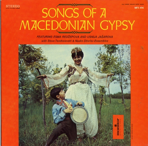 "Cover art for ""Songs of a Macedonian Gypsy"" &ndash Monitor Records LP MFS 496."