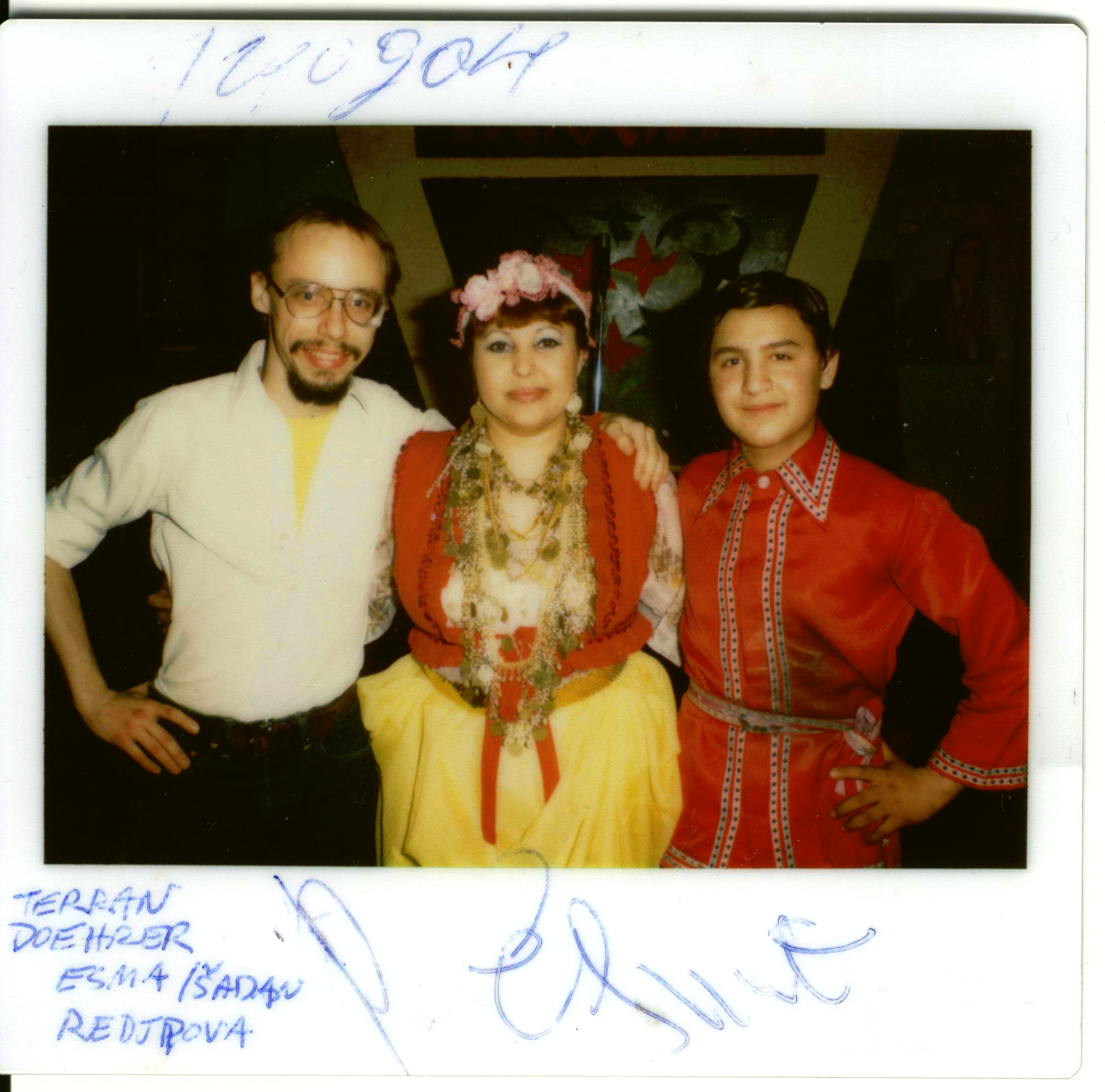 Image of Terran Doehrer with Esma Redzhepova and Shadan Redzhepova circa 1981. Photo – copyright 2016, Modal Music, Inc.(tm)