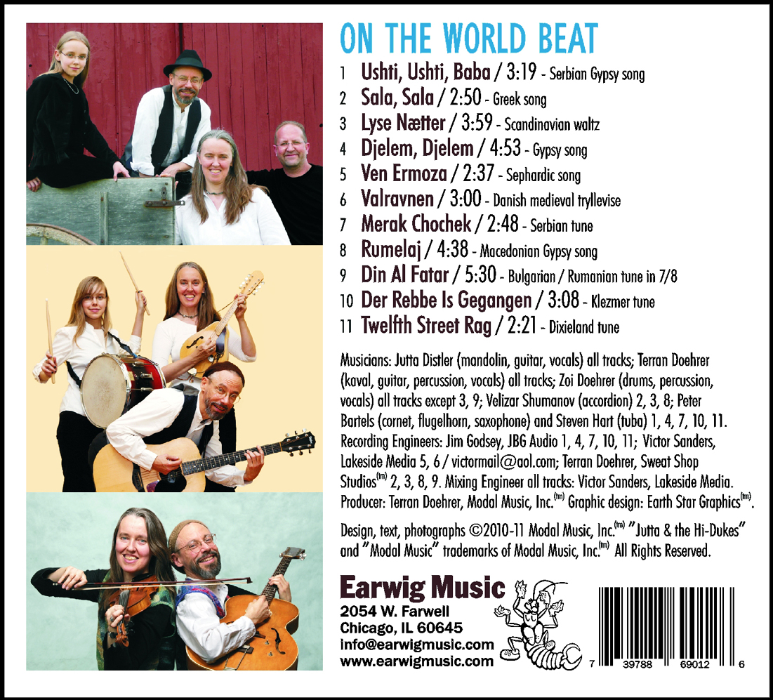 """Back cover of """"On The World Beat CD,"""" CD6901."""