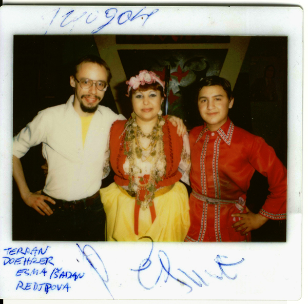 Terran Doehrer with Esma Redzhepova and Shadan Sakib circa 1981 © 2013 Modal Music, Inc. (tm) All rights reserved.
