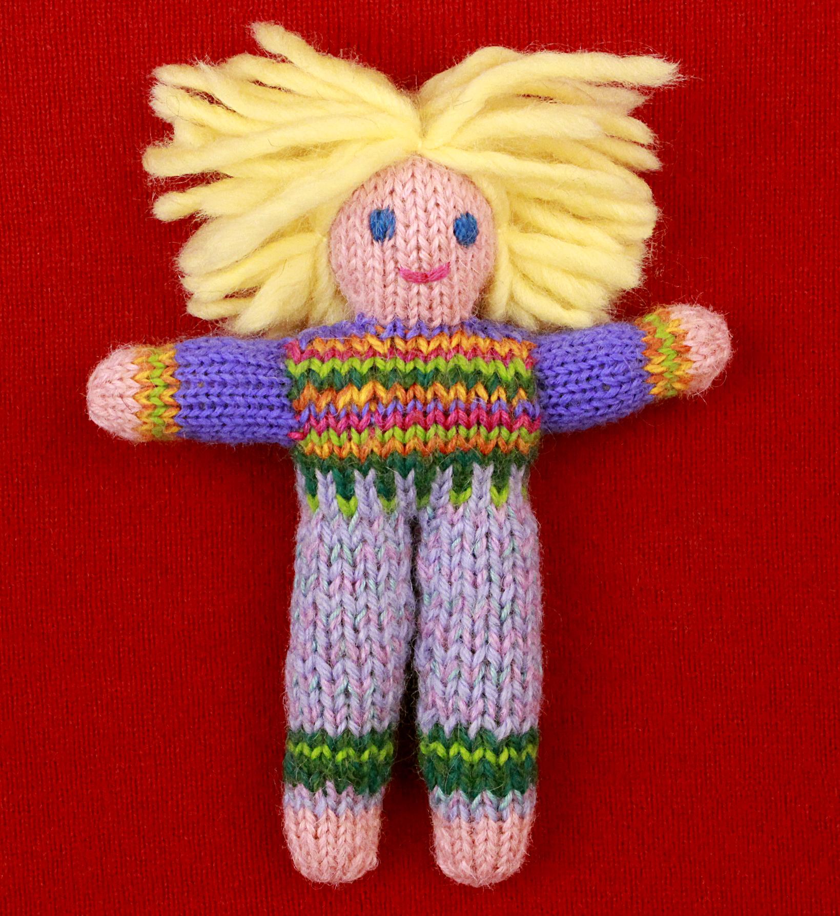 Wee Woolie doll #D0229.