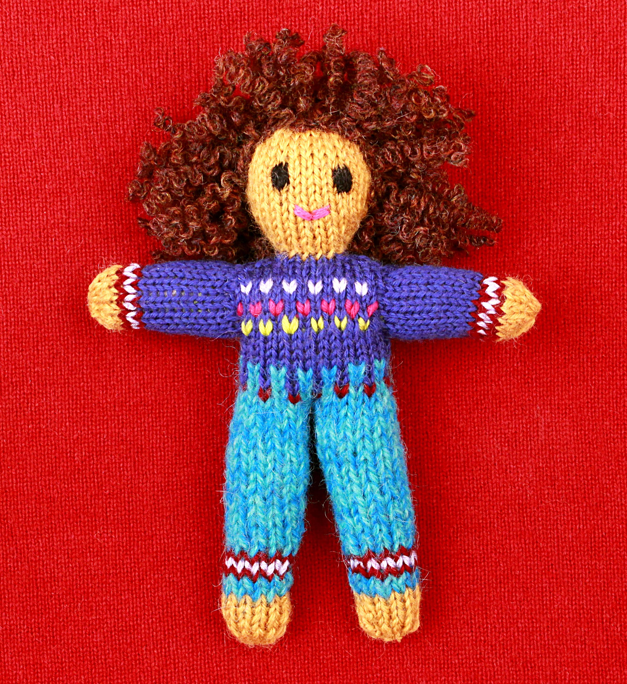 Wee Woolie doll #D0227.