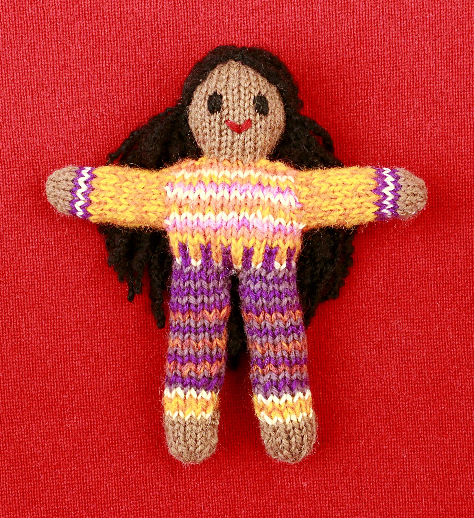 Wee Woolie doll #D0103.