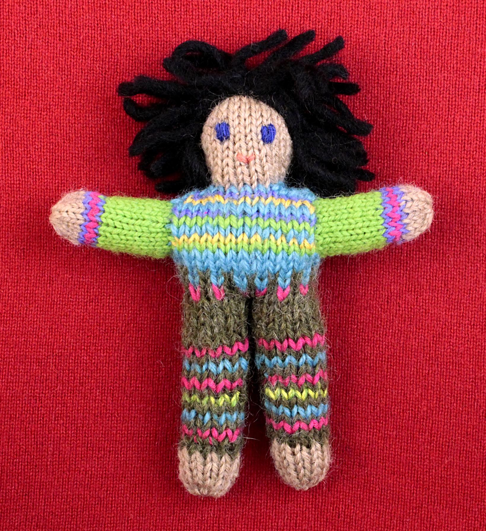 Wee Woolie doll #D0223.
