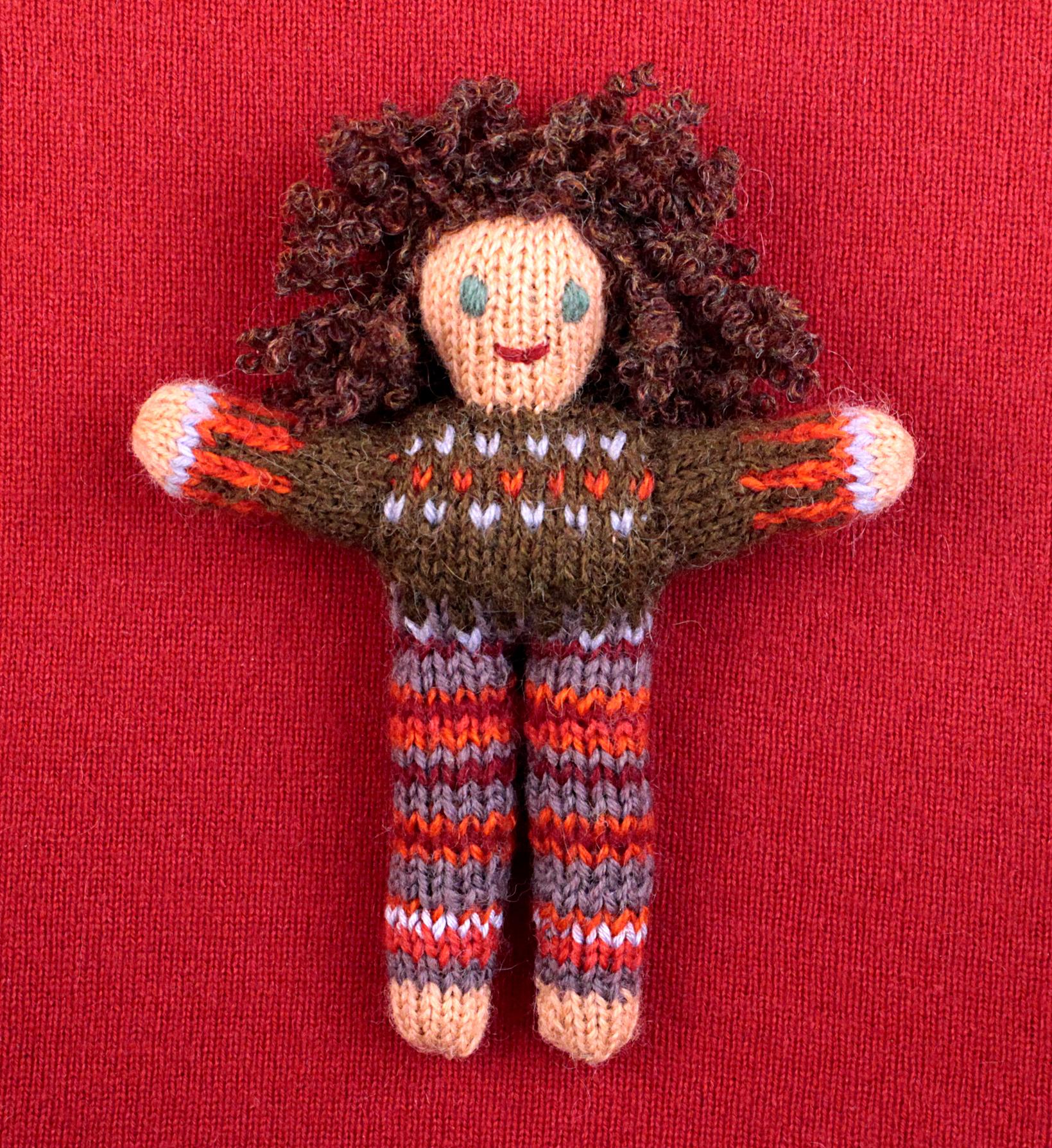Wee Woolie doll #D0224.