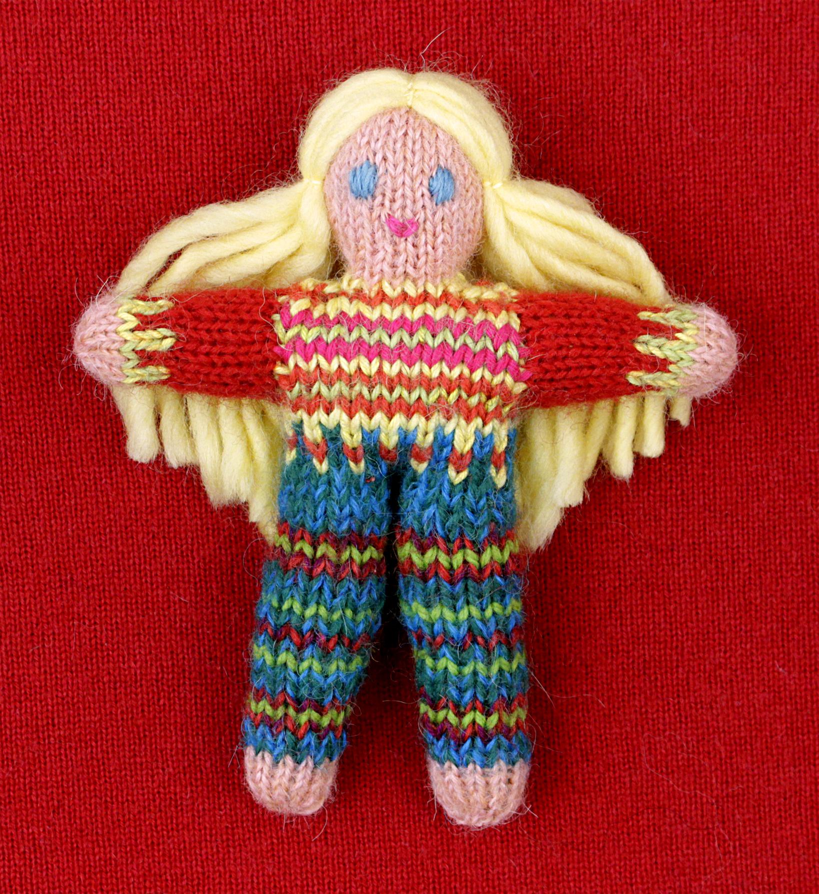 Wee Woolie doll #D0217.